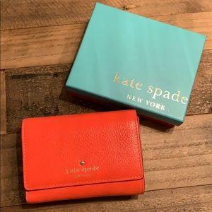 Kate spade summer wallet orange leather